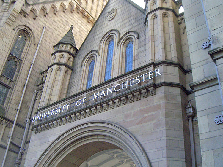 image of exterior of University of Manchester