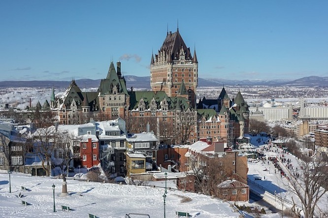 picture of Quebec in winter